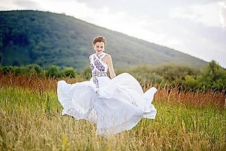 Šaty - Dlhé vyšívané šaty Slavianka - 9692278_
