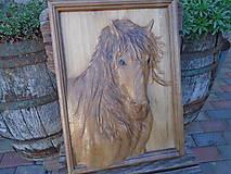 Obrazy - drevorezba - Kôň - 9692178_