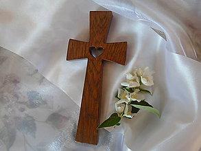 Dekorácie - Krížik so srdiečkom 7 - 9692133_
