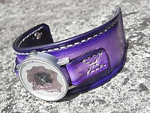 Náramky - Dámske fialové hodinky - 9691836_