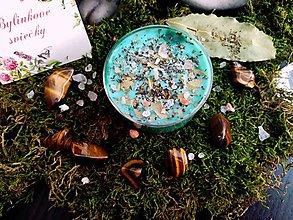 Svietidlá a sviečky - Rituálna bylinková sviečka - Hojnosť, peniaze - 9691082_