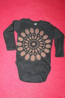 Detské oblečenie - Indiánske čierne body s mandalou - 9691378_
