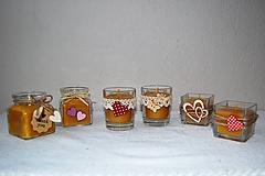 Sviečka z včelieho vosku v sklenom poháriku (ozdobiť na želanie)