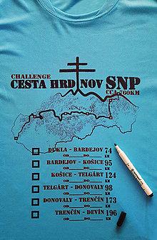 Oblečenie - Cesta hrdinov SNP - tričko s turistickou výzvou pre skúsených - 9691395_