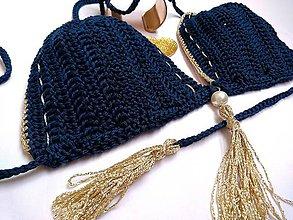 Bielizeň/Plavky - háčkované plavky - z luxusnej priadze - 9691414_