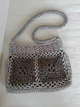 Háčkovaná kabelka-sivá