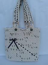 Veľké tašky - háčkovaná taška - 9690406_