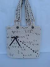 Veľké tašky - háčkovaná taška - 9690407_