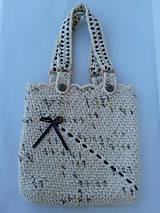 Veľké tašky - háčkovaná taška - 9690408_