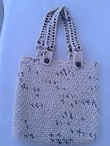 Veľké tašky - háčkovaná taška - 9690409_