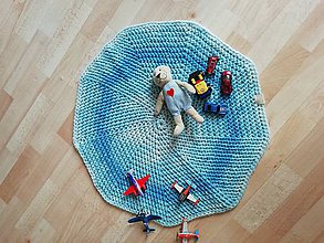 Textil - DEKA na hranie - modrá biela - 9690773_