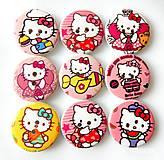 Galantéria - Gombíky Hello Kitty - 9689596_