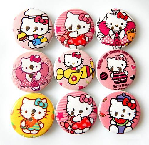 Gombíky Hello Kitty