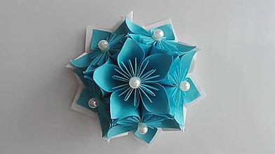 Drobnosti - Kvietok - magnetka (Modrá) - 9690379_