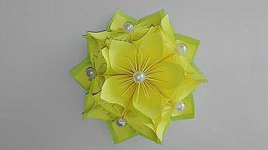 Drobnosti - Kvietok - magnetka (Žltá) - 9690411_