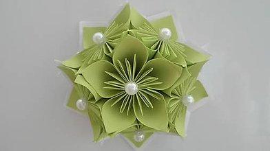 Drobnosti - Kvietok - magnetka (Zelená) - 9690414_