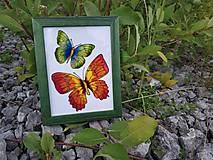 - Sklenený obrázok v drevenom rámiku - 9690047_