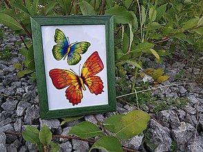 Obrázky - Sklenený obrázok v drevenom rámiku - 9690047_