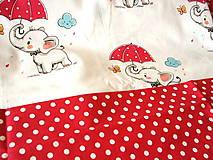 Textil - bavlna sloník s dáždnikom - 9690766_