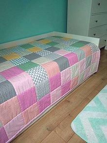 Úžitkový textil - Patchworková deka - 9692430_
