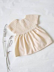 Detské oblečenie - Šaty - sladká vanilka - 9689992_