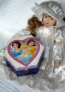 Hračky - šperkovnička pre princeznu 16,5 x 14,5 x 8 cm - 9689895_
