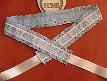 Opasky - Folklórny modrý opasok 4,5cm s madeirou - 9690561_