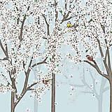 Grafika - Vtáčí les - jar 2 -detail - 9690205_