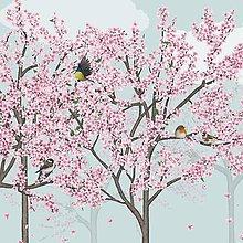 Grafika - Vtáčí les - jar - detail - 9690129_