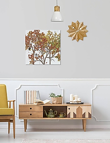 Grafika - Vtáčí les - jeseň - detail - 9690174_