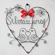 Dekorácie - mladomanželom - svadobné srdce ❤ 20cm     (červená) - 9694525_