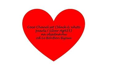 Sady šperkov - Coco Chanel set (black & white pearls/Silver Ag925) - 9693547_