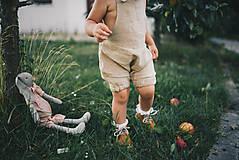 Detské oblečenie - Detské kraťasy na uzlík (Oranžová) - 9693231_