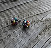 Náušnice - náušnice PP napichovacie  (náušnice napichovacie colors) - 9694386_