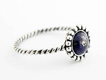 Prstene - 925 Strieborný prsteň s lapisom lazuli - 9694946_