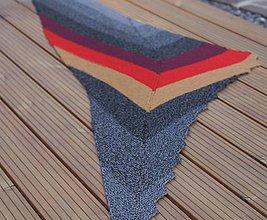 Šatky - Veľká bavlnená trojuholníková šatka - 9694031_