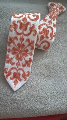 Doplnky - Vyšívaná kravata - 9693161_
