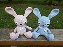 Hračky - Ružový a modrý zajko  - 9694735_