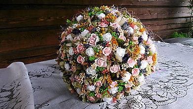 Dekorácie - Kytica z malých ruží - 9695458_