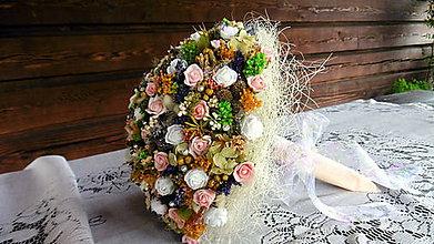 Dekorácie - Kytica z malých ruží - 9695464_