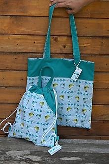 Nákupné tašky - Súprava s vtáčikmi (taška na plece 34 x 37 cm) - 9692697_