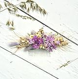 Ozdoby do vlasov - Hrebienok do vlasov - Sušené kvety - 9694512_
