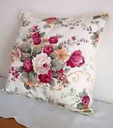 Úžitkový textil - vankúš s ružami - 9695098_