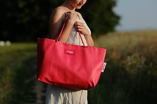 Veľké tašky - Úsmev ako dar - DORKA bag (Červenám sa!) - 9693928_