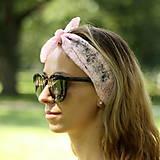 Ozdoby do vlasov - Vintage šatka do vlasov Barbie čipka - 9693386_
