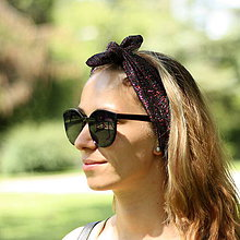 Ozdoby do vlasov - Vintage šatka do vlasov Gloss purple - 9693351_