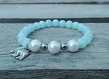 Náramky - Náramok - jadeit, riečna perla - 9694564_