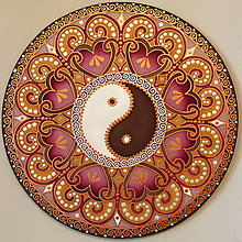 Dekorácie - Mandala...Harmónia lásky - 9695233_