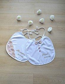 Darčeky pre svadobčanov - Svadobný podbradník ONA a ON - 9694792_
