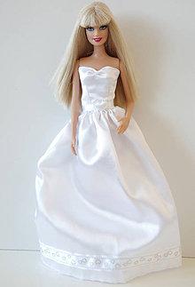 82784d9043ad Hračky - Svadobné šaty so srdiečkami pre Barbie - 9695759